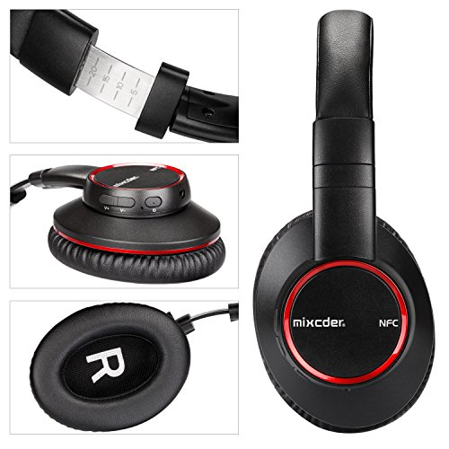 Over-Ear Headphones,Bluetooth V4.2 Hi-Fi Stereo Wireless Headset Mixcder HD601 with aptX Low Latency and NFC for iPhone/Android/Tablets/TV