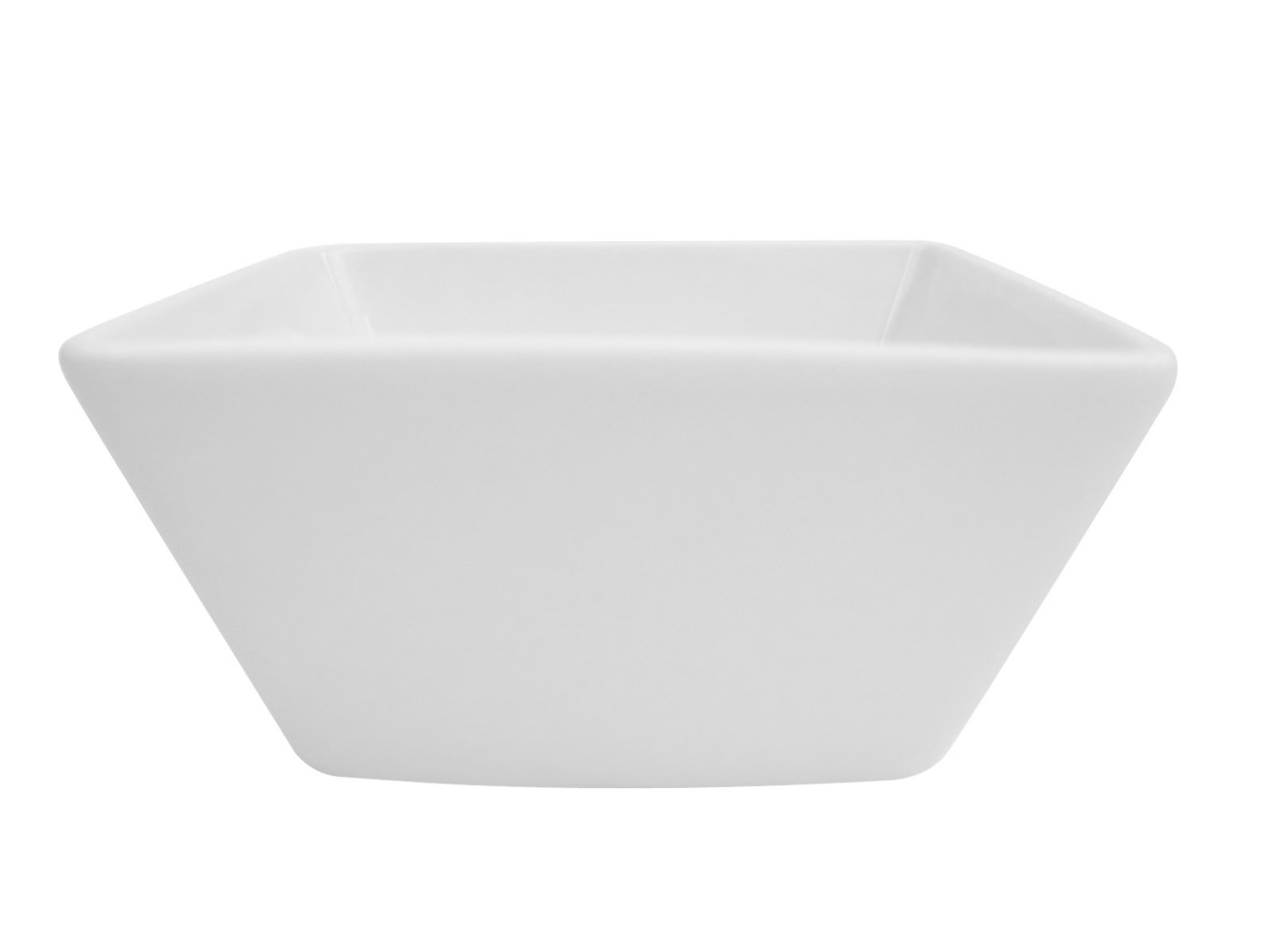 CAC China KSE-DB3 Kingsquare 3-1/4-Inch 4-Ounce Super White Porcelain Deep Square Bowl, Box of 48