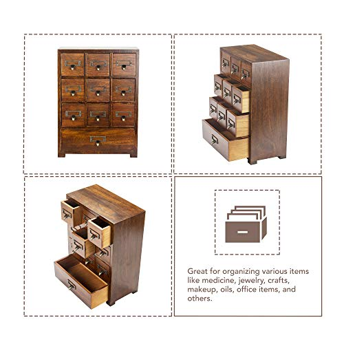 Primo Supply Traditional Solid Wood Small Chinese Medicine Cabinet l Vintage and Retro Look with Great Storage Apothecary Drawer Herbal Dresser l Great for Modern Things   Tall - Fully Assembled