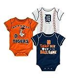 Detroit Tigers Baby Boys Infant Creeper 3-piece Set - 12 month