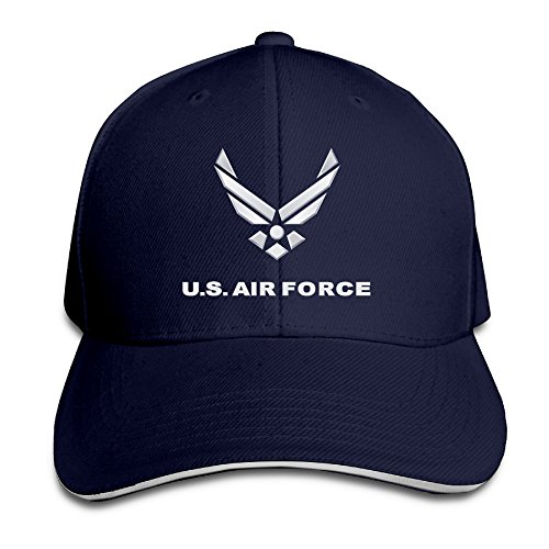 Adult Dyed Cotton Adjustable Snapback Baseball Cap U.S. Air Force Symbol Dad Trucker Hat