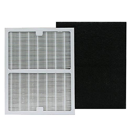 Replacement Idylis Air Purifier Filter, Compatible with Idylis Air Purifiers Idylis AC-2119, IAPC-10-140, IAP-10-100, IAP-10-150 Model # IAF-H-100A, Includes 1 HEPA & 1 Carbon Filters