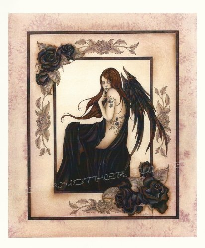 Nude Black Roses Amy Brown Open Edition 8.5x11 Fairy -