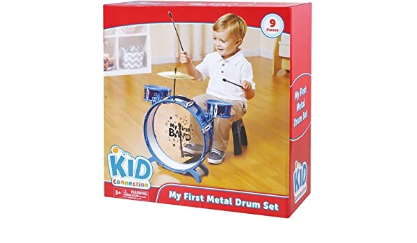 Amazon Com My First Metal Drum Set Blue Musical Instruments