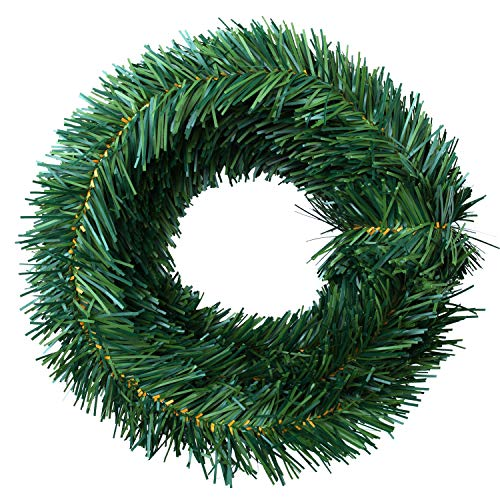 Elcoho 18 Foot Christmas Pine Garlands Christmas Artificial Green Pine Garland Wreaths for Christmas, Home or Wedding Party Decorations (Green)]()