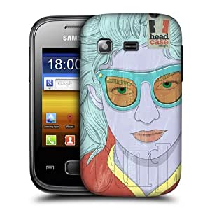 Head Case Designs Curl Lineart Hairstyles Protective Snap-on Hard Back Case Cover for Samsung Galaxy Pocket S5300