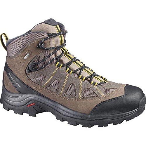 (Salomon Men's Authentic Leather Gore-TEX Hiking Boot,Shrew/Burro/Ray,US 12 M)