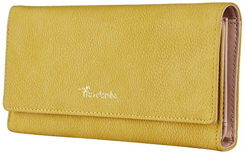 Travelambo Womens Wallet Faux Leather RFID Blocking Purse Credit Card Clutch (Lemon Yellow 310) by Travelambo (Image #6)