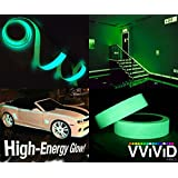 """High Energy Glossy Green Glow in the Dark Vinyl Detailing Tape 1.25"""" x 5ft Roll"""