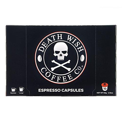 Death Wish Coffee Nespresso Compatible Capsules - USDA Certified Organic - 80 Count