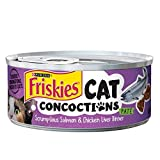 Purina Friskies Cat Concoctions Pate Scrumptious Salmon & Chicken Liver Dinner Cat Food, 5.5 Ounce Can by Purina Friskies Review