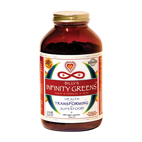 Infinity Greens: Superfood Formula for Weight-loss, Life-force & Longevity. 100% Organic & Wild-Harvested. (480 Capsules) by Billy's Infinity Greens