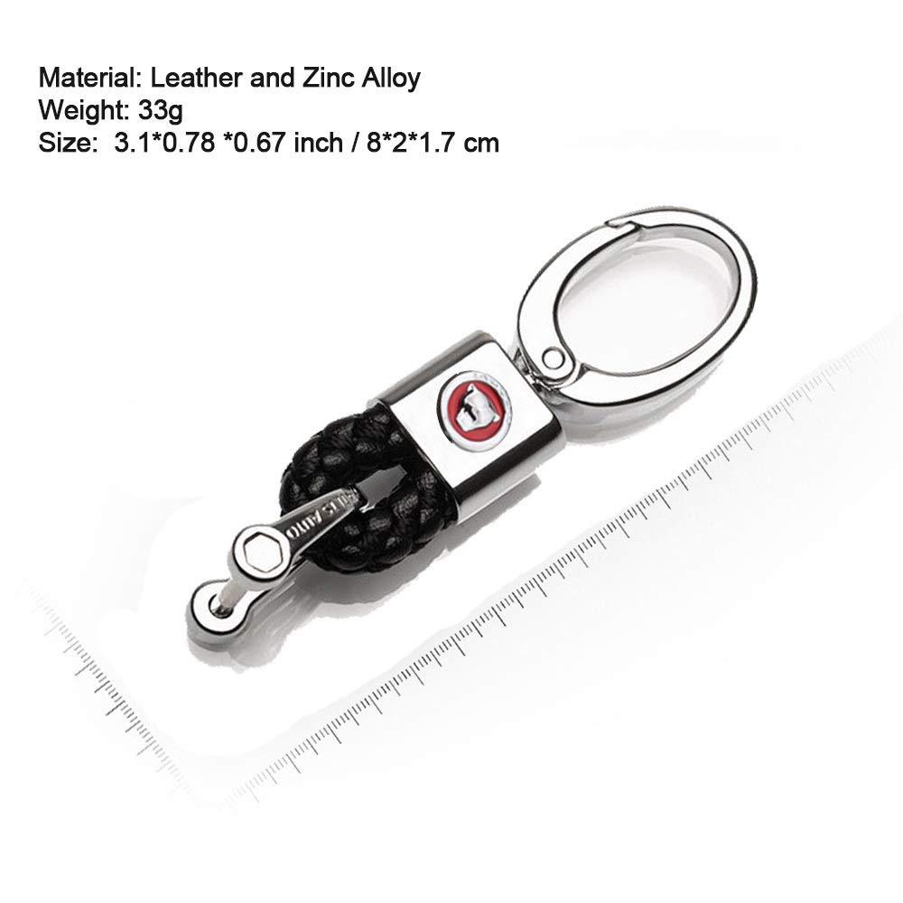 VILLSION 2Pack Genuine Leather Keychain Car Logo Keyring Emblem Key Chain Auto Decoration Accessories