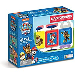 MAGFORMERS 66004 Building Kit, Paw Patrol Colors (Amazon Exclusive)