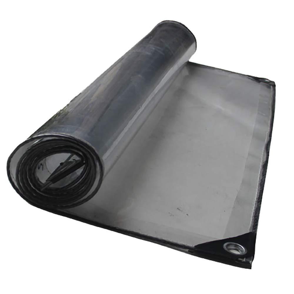 WWXX- 透明な防水ターポリンの増粘日ルーム透明なカーテン屋外PVC防水タプロ(420G /㎡) (サイズ さいず : 3x3m) 3x3m  B07JQJM3SK