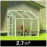 Serre De Jardin En Profilé D'Aluminium Anodisé