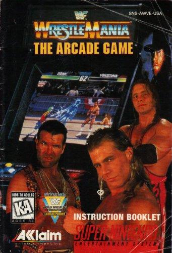 WF WrestleMania The Arcade Game SNES Instruction Booklet (Super Nintendo Manual Only) (Super Nintendo Manual)