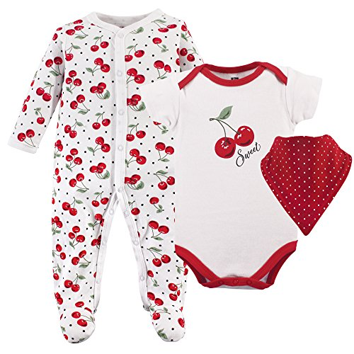 Hudson Baby Baby Multi Piece Clothing Set, Cherries 3, 3-6 Months (6M) ()
