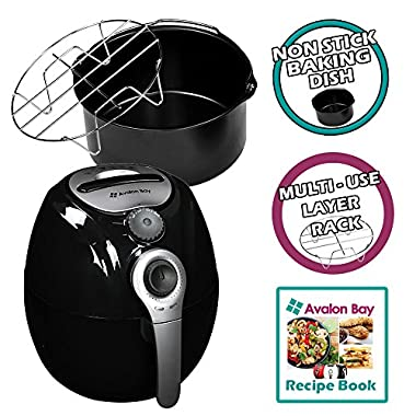 Avalon Bay AB-Airfryer100B Airfryer in Black