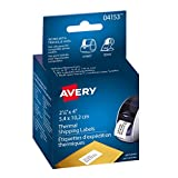 """Avery Shipping Labels for Thermal Label Printers, 2-1/8"""" x 4"""", White, Rectangle, 140 Labels, Permanent (4153)"""