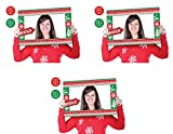 Beistle 20895 Ugly Sweater Photo Fun Frames 3 Piece, 15.5'' x 23.5'', Red/White/Green