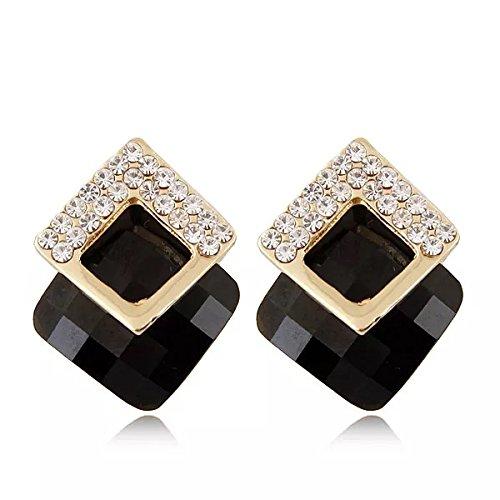 Shining Diva Fashion Latest Italian Designer 18k Gold Plated Crystal Earrings For Women and Girls