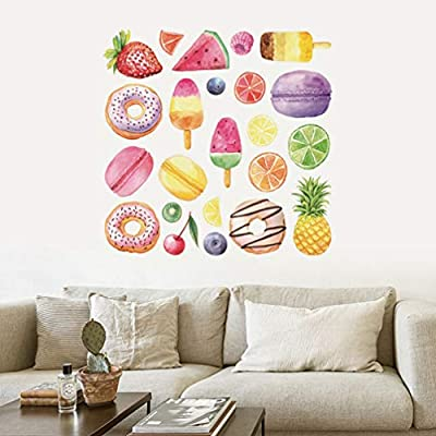 NUOBESTY Ice Cream Wall Sticker Wall Decal Peel and Stick Wall Sticker Removable Cartoon Wall Poster for Nursery Playroom Or Kids Room Decor: Baby