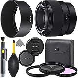 Sony FE 50mm f/1.8 Lens: Full Frame Mirrorless Prime Lens + AOM Pro Kit Combo Bundle - International Version
