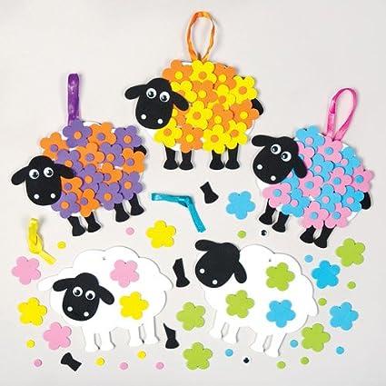 Amazon.com: Flor Oveja Hanging Kits de espuma Decoración ...