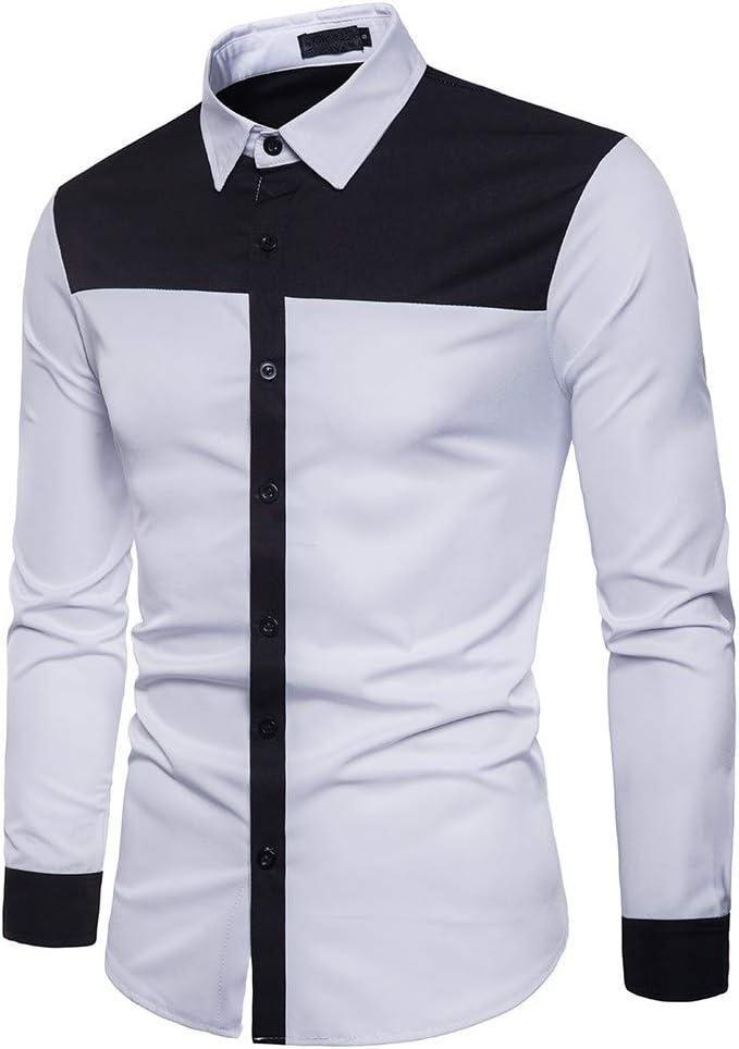 Sunnyuk Camisas De Manga Larga De Los Hombres, Color Regular Camisas Casuales Botón Abajo Clásico Vestido Camisa para Hombres: Amazon.es: Deportes y aire libre