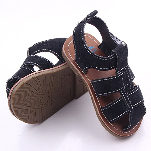 Etrack-Online Baby Riemchen Sandalen Flip Flops Sommer Schuhe, Grün - khaki - Größe: 0-6 monate schwarz