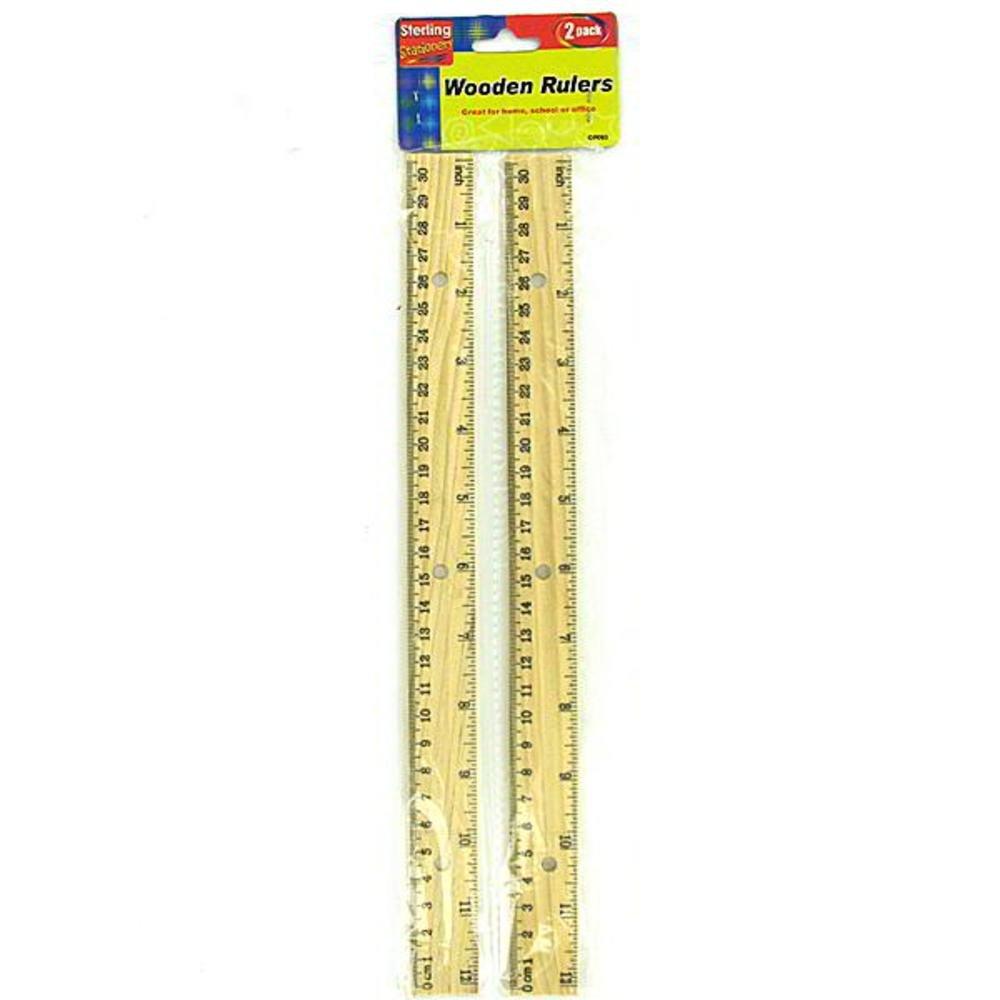 sterling - Wooden ruler set ( Case of 72 )