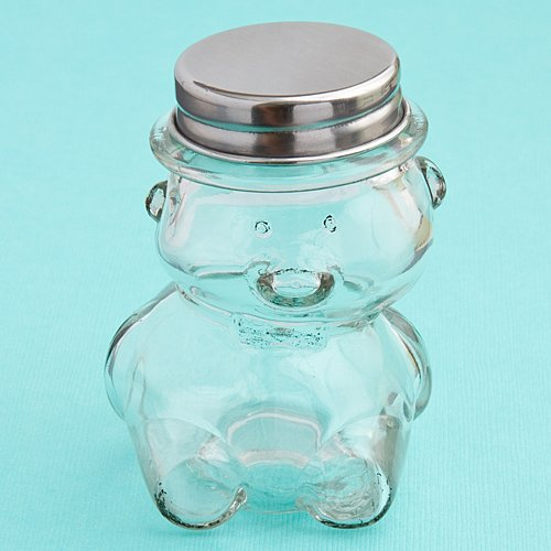 Teddy Bear Small Glass Cookie And Treat Jars , 36