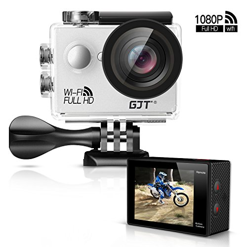 "GJT GA1 1080P Action Camera 12MP Full HD Sports Camera WiFi 30M Waterproof Cam DV Camcorder 2"" LCD, 170°Wide Angle Lens with Multi Accessories GJT"