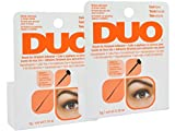 Duo Brush on Striplash Adhesive Dark Tone for Strip Lashes Blends with black or brown lashed - Size 5 G / 0.18 Oz (Pack of 2)