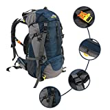 45L+5L Trekking Backpack, Internal Frame Backpack for Waterproof Outdoor Hiking Travel Climbing Camping
