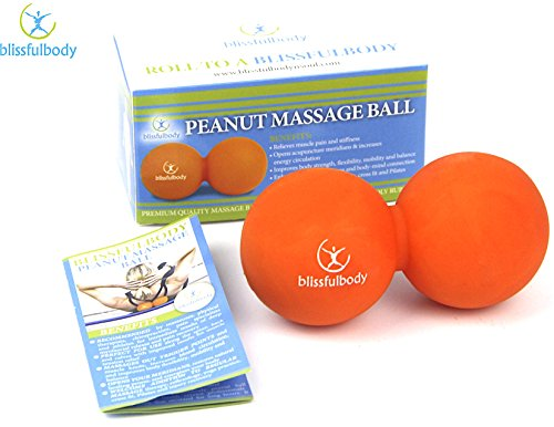 Blissfulbody Peanut Double Massage Ball/Yoga Ball. Deep Tissue Massage for Muscle Tension and Pain Relief for Yourself from Head to (Peanut Head)
