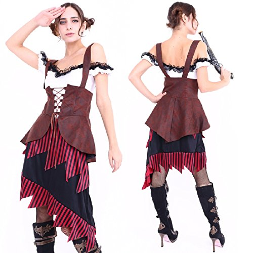 Club Queen -- Classical Pirate with Dress Costume - XS to Small Size -