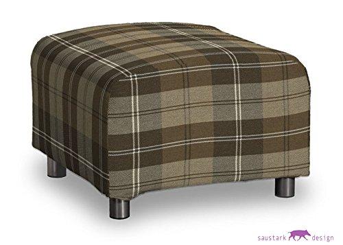 Saustark Design saustark design dundee cover for ikea klippan footstool checked