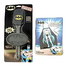DC Comics Batman Kids Baking Bundle with Apron, Spatula & Cookie Cutter (3 Items)