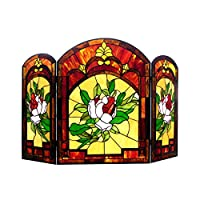 Chloe Lighting Iggy Tiffany-Glass Floral...