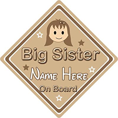 personnalisé enfant/Baby on Board ~ Big Sister on Board ~ Marron Bébés & Puériculture