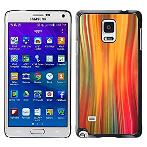 "Pulsar Snap-on Series Teléfono Carcasa Funda Case Caso para Samsung Galaxy Note 4 , Luces Warp Speed ??Movimiento Naranja"""