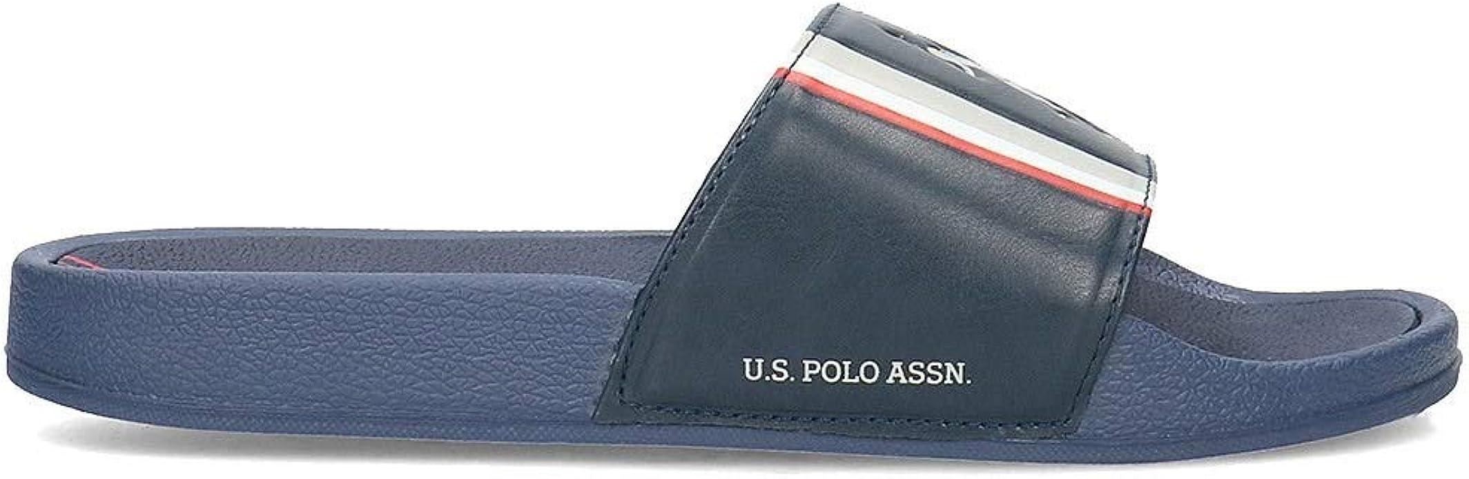 U.S. POLO ASSN NASSO DKBL FUN2107S9/G1 Chanclas Navy para Hombre ...