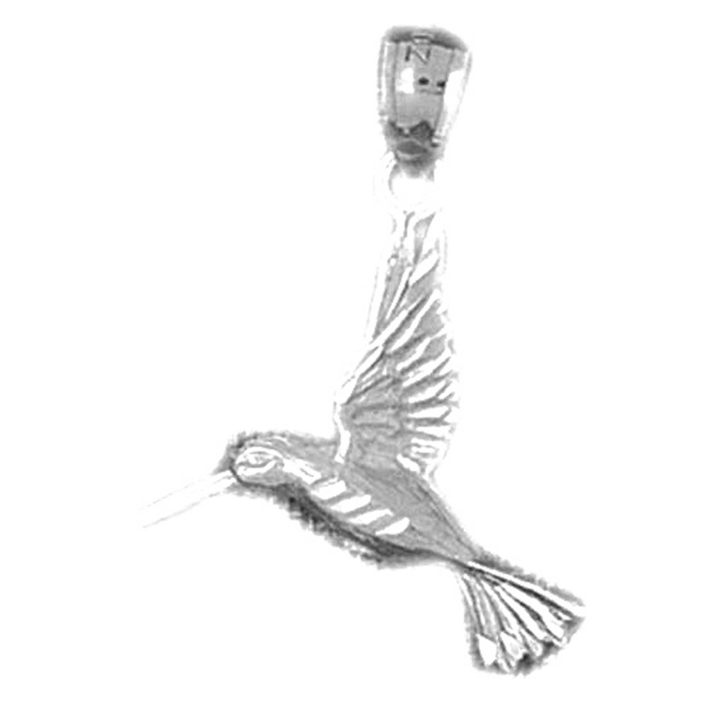 Rhodium-plated 925 Silver Hummingbird Pendant with 18 Necklace Jewels Obsession Hummingbird Necklace