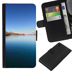 Ihec-Tech / Flip PU Cuero Cover Case para Sony Xperia Z2 D6502 D6503 D6543 L50t - Nature Beautiful Forrest Green 91