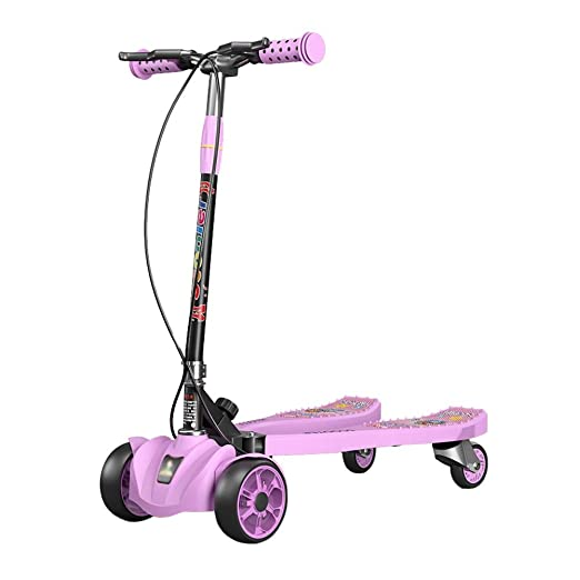 Scooter Patinete para niños, 4 Ruedas, Pedal Ancho Plegable ...