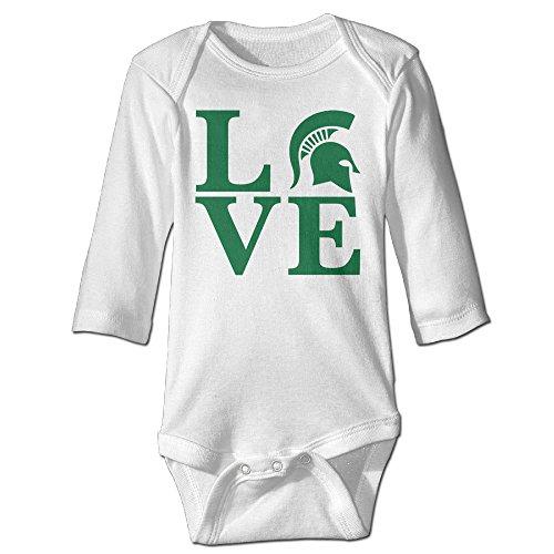 Boxer98 Newborn Michigan Love State University Long Sleeve Jumpsuit Outfits