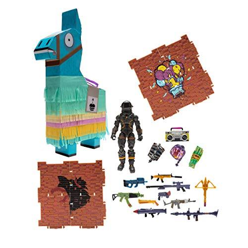 La piñata de la llama de fortnite de 20 cm Contiene 23 sorpresas en su interior Todas las sorpresas son del videojuego: figuras, accesorio