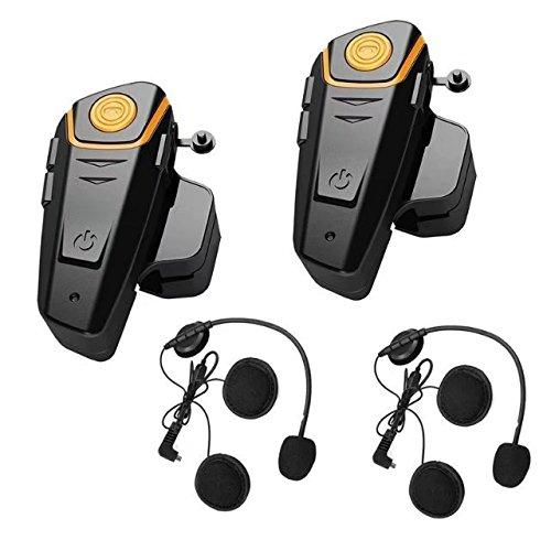 Enchicas Piezas BT S Intercomunicador para Cascos Manos Libres Auricular Casco para